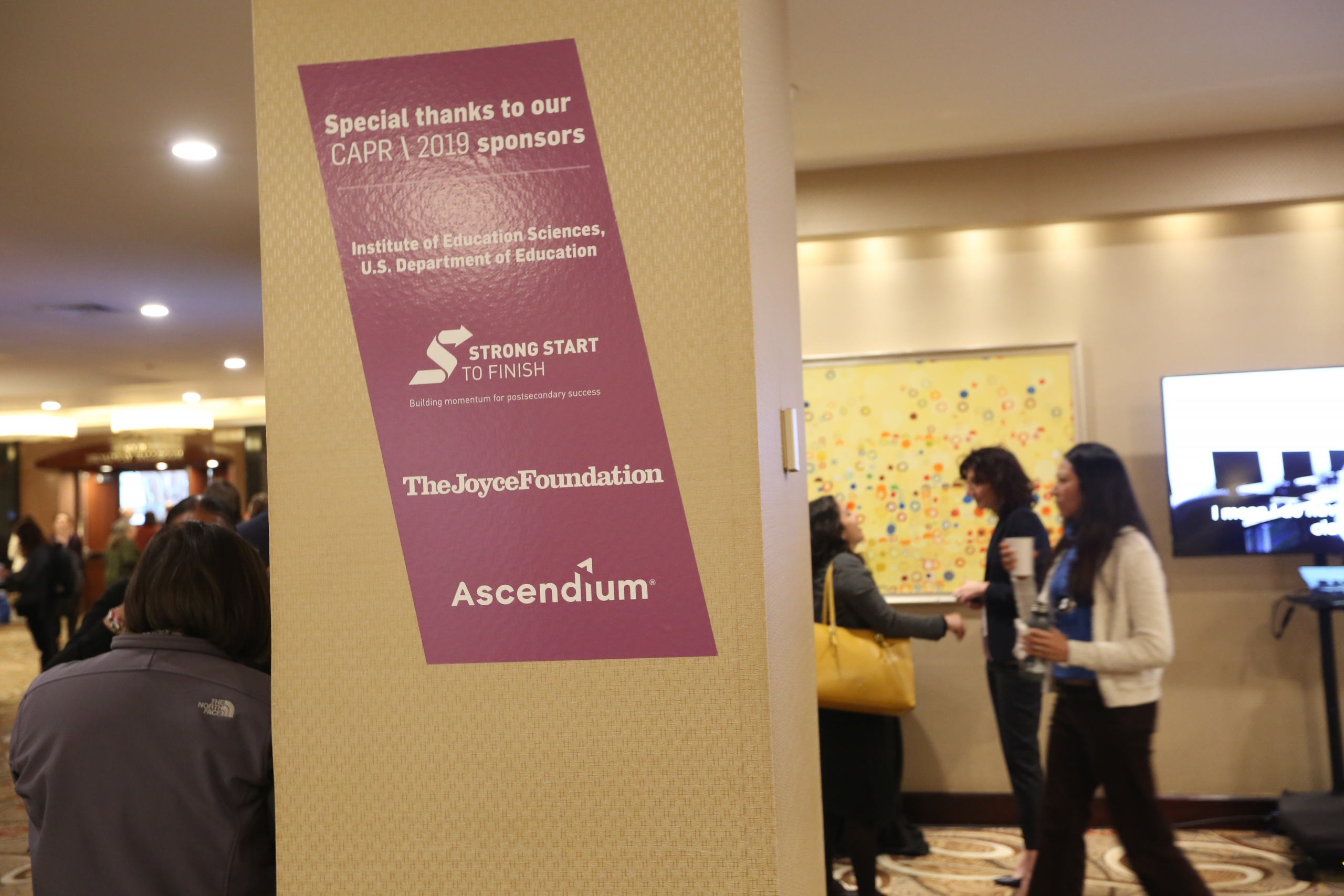 A CAPR banner in the hotel lobby