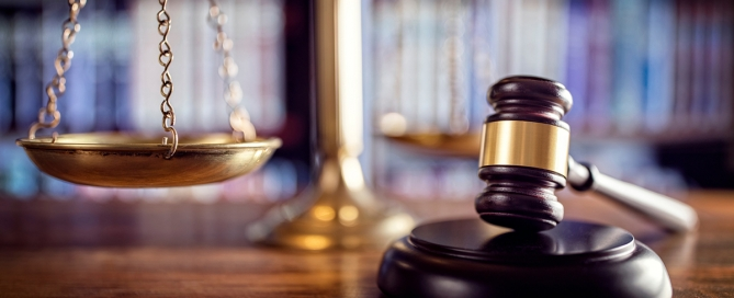 Scales and judge's gavel