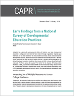 "Cover of ""Early Findings from a National Survey of Developmental Education Practices"""
