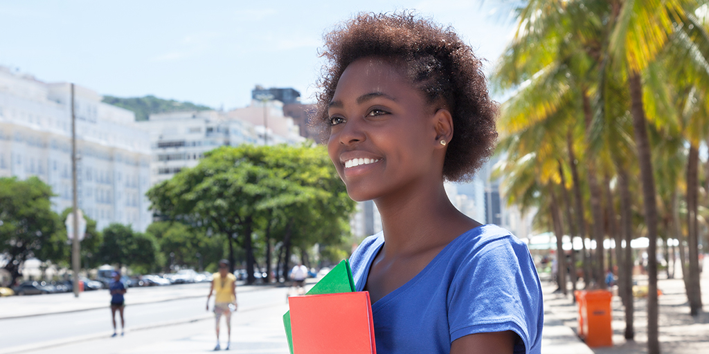 Florida college student smiling