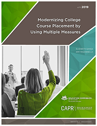 Modernizing college course placement by using multiple measures cover